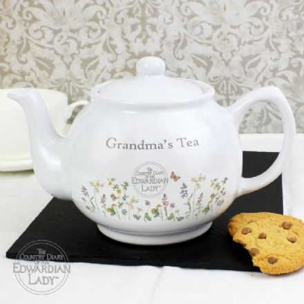 Country Diary Wild Flowers Teapot (Personalised)